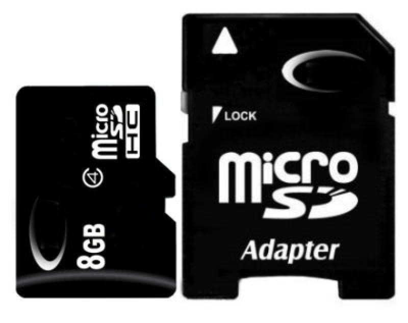 Карта памяти Micro SD 8 GB Class-10 (c адаптером на SD)