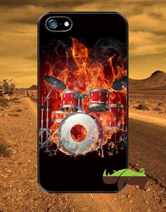 Rock чехол Скелет-барабанщик