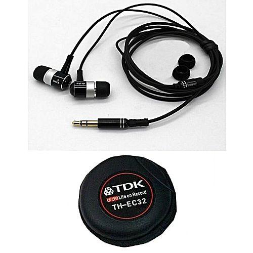 Вакуумные наушники с микрофоном TDK TH-EC32